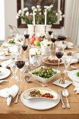 A festive table laid for the Jewish New Year