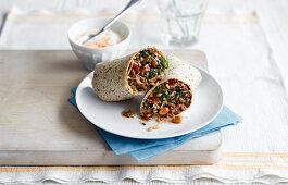 Beef Spinach Burrito