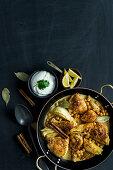 Tandoori coconut chicken with fennel and chickpeas
