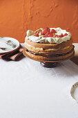 Pizza dolce - sweet layered sponge cake (Italy)