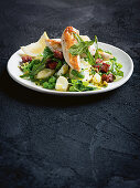 Chicken and chorizo with warm potato salad