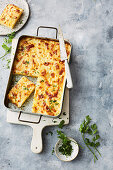 Cheesy potato bake slice