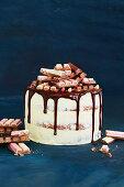 Neapolitan Kitkat layer cake