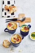 Creamy cauliflower and sweet potato soup