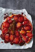 Apple and rosemary tarte tatin