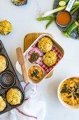 Zucchini Muffins in a Lunch Box