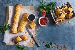 Minced beef Cajun sausage rolls