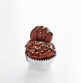 A brownie cupcake with caramel cookies (Australia)