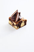 A marble brownie with chocolate mint biscuits (Australia)
