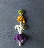 Colour cauliflowers