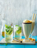 Mojito and milk stout milkshake