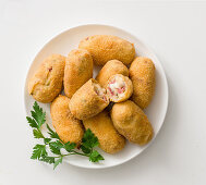 Potato croquettes with cotechino