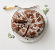 Chocolate cake with torrone (nougat)