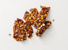 Homemade nut brittle from leftover nuts