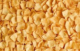 Salted potato squares (potato snacks, edge to edge)