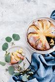 Ricotta-Zitronenkuchen mit Birne