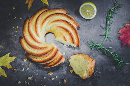 Olive oil cake with rosemary and lemon
