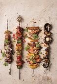 Various grilled skewers