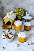 Easter arrangement of easter cakes