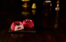 Frozen Raspberry Vanilla Rose Dessert