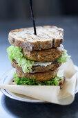 Veal burger sandwich