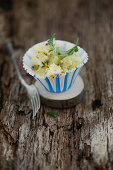 Potato salad with gherkins and radishes