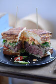A surf and turf sandwich