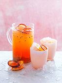Fruchtiger Gin Spritzer mit Passionsfrucht
