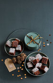 Coconut and chocolate cubes