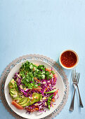 Red cabbage and grapefruit salad