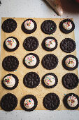 Homemade Oreo cookies with cream filling