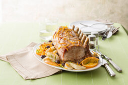 Orange roast with fennel and olives