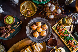 Sweet and spicy food for an Easter high tea