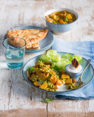Indian potato curry with peas and carrots
