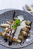 Roasted chicory with aceto balsamico and shaved Parmesan