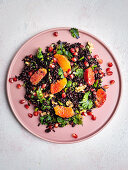 Vegan black rice salad