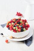 New York cheesecake with berries