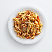 Fusilloni with artichokes, capers and bread crumbs