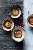 Kohlrabi stew with sake, mirin and soy sauce (Asia)