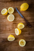Lemons, partially juiced