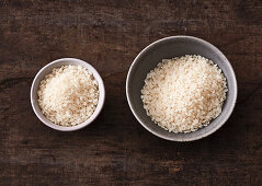 The right amount of rice as a side dish or a main course