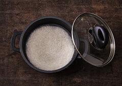 Soaking rice