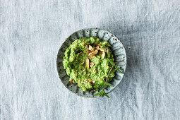 Vegan pea and avocado spread