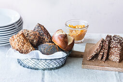 A selection of bread for brunch