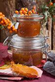 Homemade sea buckthorn jam
