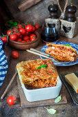 Pork lasagna