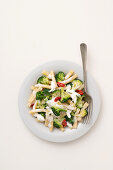 Caserecce with broccoli, chili and burrata
