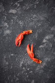 Lobster claws, cooked