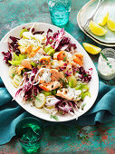 Poached Salmon, Fennel, Cerlery and Caper Salad