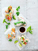 Four Ways with rice Paper Rolls